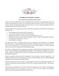 Celebrate Successful Women 2013 Nomination Form