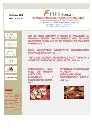 Fiesa News - N. 10 - 23 OTTOBRE 2012