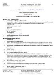 Esiti (.pdf 110 KB ) - Gare Ferservizi