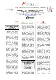Fiesa- Federazione Italiana Esercenti Settore Alimentare