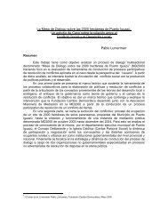 La Mesa de Dialogo sobre las 2000 hectáreas de ... - Gestión Social