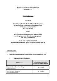 Preisblatt Strom Netznutzungsentgelte der - bei der Bayerischen ...