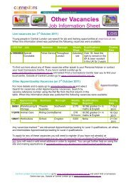 Other Vacancies Job Info Sheet - Oct 11.pdf - Young Hackney