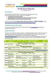 GCSE Exam Results Bulletin 2012.pdf - Young Hackney