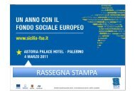 Rassegna stampa Convegno del 4 marzo 2011 - FSE Sicilia
