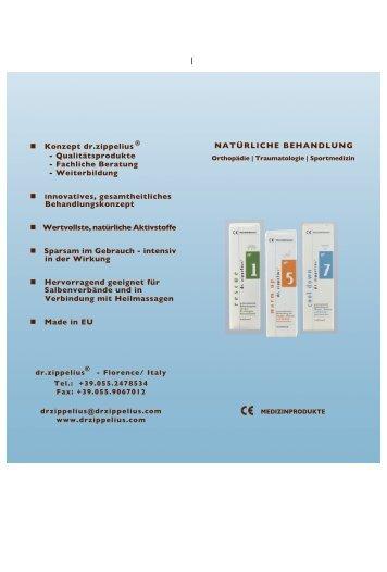 Konzept dr.zippelius - Qualitätsprodukte - Fachliche Beratung