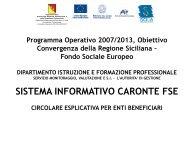 Circolare esplicativa 11 Maggio - Sistema Informatico ... - FSE Sicilia