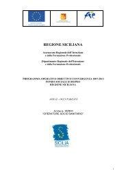 PROGRAMMA OPERATIVO OBIETTIVO ... - FSE Sicilia