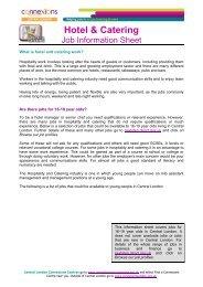 Hospitality Job Info Sheet - Young Hackney