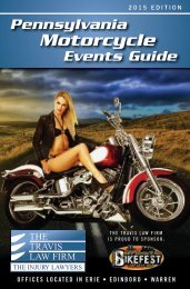 2015 PA Motorcycle Events Guide