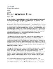 El nuevo consumo de drogas - Observatorio Argentino de Drogas