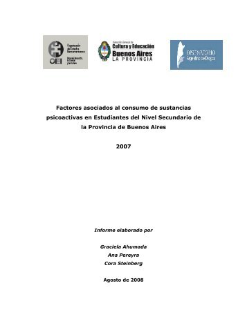 Escolares 2007 - Factores de riesgo asociados. - Observatorio ...