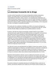 La amenaza incesante de la droga - Observatorio Argentino de ...