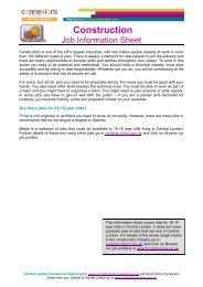 Construction Job Info Sheet - Young Hackney