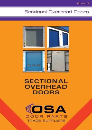 SECTIONAL OVERHEAD DOORS - OSA