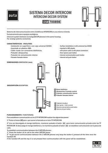 sistema decor intercom auta?quality=85 auta es magazines auta intercom wiring diagram at reclaimingppi.co