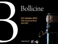 Programma Bollicine - Italia a Tavola