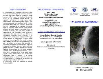 Scarica la versione PDF - CAI Sezione Varallo Sesia