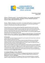 Comunicato stampa Aprile 2011 Cultura ... - Teatro del pratello
