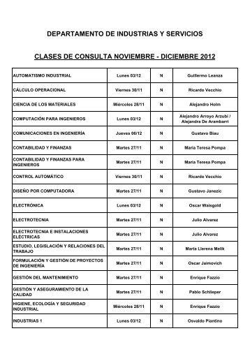 Consultas Industrial NOV DIC 2012