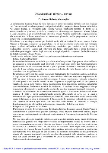 Tecnica Rifugi - CAI Sezione Varallo Sesia