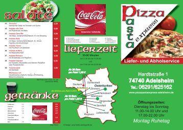 gehts zur Speisekarte! - Pizzapastaexpress-adelsheim.de