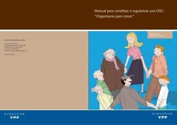 Manual para constituir o regularizar una OSC ... - Gestión Social
