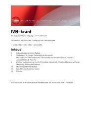 IVN-krant juli 2009 - Internationale Vereniging voor Neerlandistiek