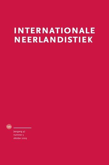 IN 3, oktober 2009 - Internationale Vereniging voor Neerlandistiek