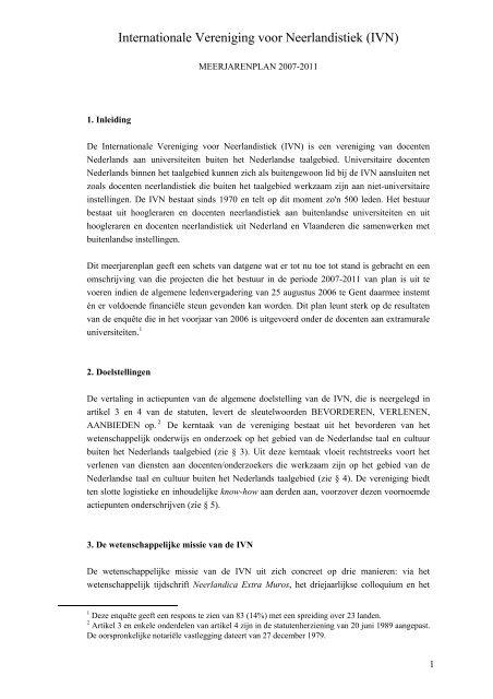 Internationale Vereniging voor Neerlandistiek (IVN)
