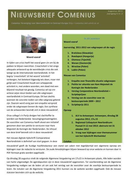 Comenius Nieuwsbrief. Jg 6. Augustus 2012.pdf