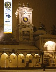 la vita dei Club - Rotary International Distretto 2060