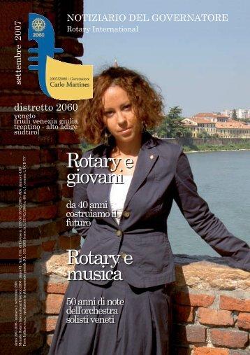 Rotary e giovani Rotary e musica Rotary e giovani Rotary e musica