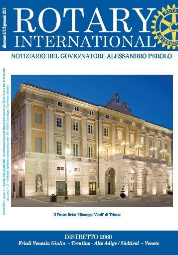 Dicembre 2012 / Gennaio 2013 - Rotary International Distretto 2060