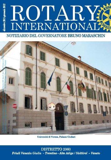 Notiziario dicembre - gennaio 2012 - Rotary International Distretto ...