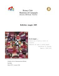 Rotary Club Madonna di Campiglio - Rotary International Distretto ...