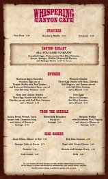 from the griddle side orders starters canyon skillet ... - wdw spanish