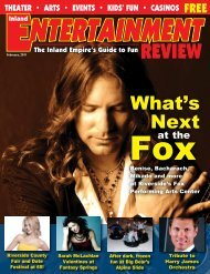 What's Next - Inland Entertainment Review Magazine