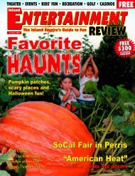 October, 2004 - Inland Entertainment Review Magazine
