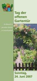 offenen Gartentür - Amt für Ernährung, Landwirtschaft und Forsten ...