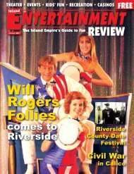 Will Rogers Follies - Inland Entertainment Review Magazine