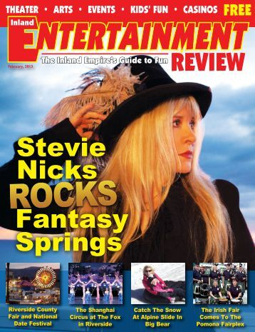Stevie Nicks Fantasy Springs - Inland Entertainment Review Magazine