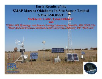 1. Early Results of SMAP-MOISST (Mike Cosh, USDA/ARS) - NASA