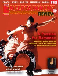 February, 2006 - Inland Entertainment Review Magazine