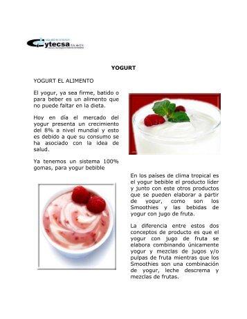 YOGURT YOGURT EL ALIMENTO El yogur, ya sea ... - QuimiNet.com