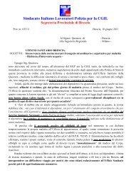 Sindacato Italiano Lavoratori Polizia per la CGIL - Silp Lombardia