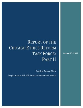report of the chicago ethics reform task force: part ii - Civic ...