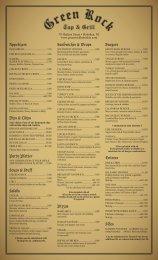Greenrock_Menu_90512.. - Green Rock Tap & Grill