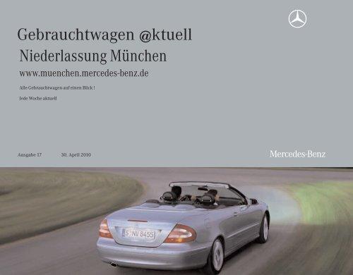 Gebrauchtwagen @ktuell - Mercedes-Benz Niederlassung München