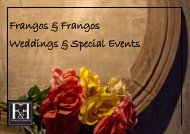 Event Packages - Frangos & Frangos